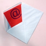 envelope with @ sign inside